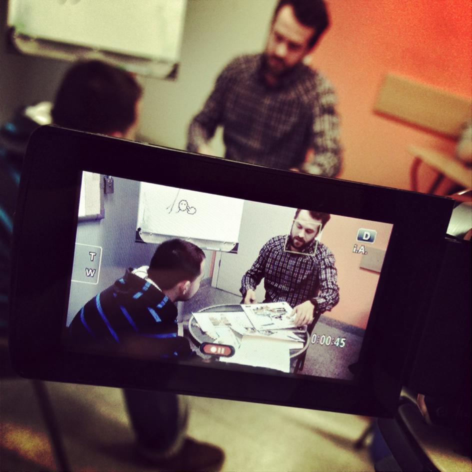 Szkolenie sprzedażowe praca zkamerą