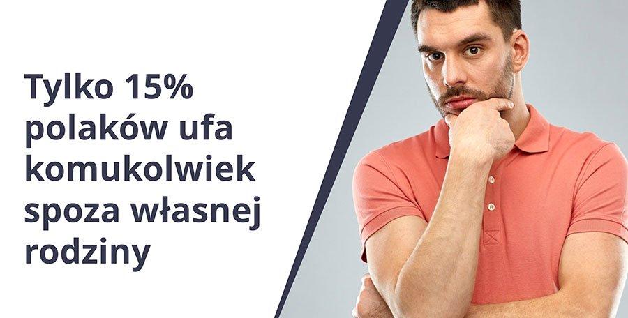 Tylko 15% polaków ufa komukolwiek spoza własnej rodziny